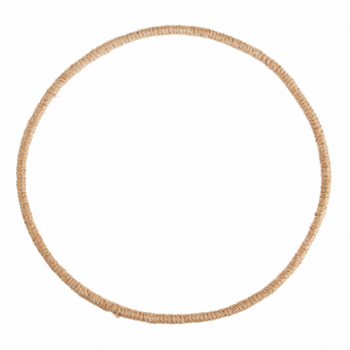 Wreath Base Jute Wrapped Wire  25cm 9.8in